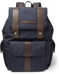 Brunello Cucinelli - Leather-trimmed Canvas Backpack - Lyst