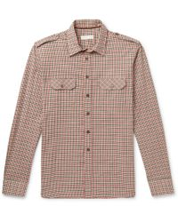 Etro - Slim-fit Checked Cotton-twill Shirt - Lyst
