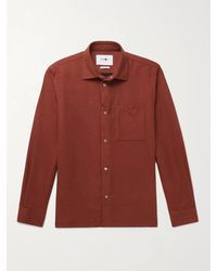 NN07 Basso Double-faced Cotton-flannel Overshirt - Orange