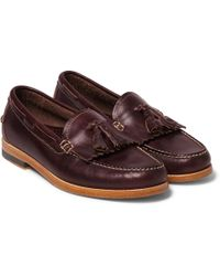 G.H.BASS - Leyton Tasselled Leather Loafers - Lyst