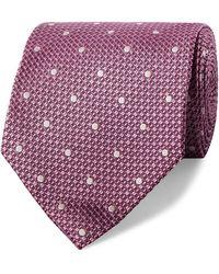 Tom Ford 8cm Polka-dot Silk-jacquard Tie - Purple