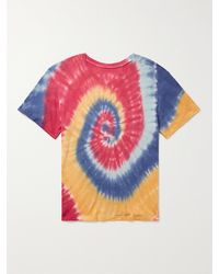 The Elder Statesman Tie-dyed Cotton And Cashmere-blend Jersey T-shirt - Multicolour