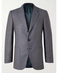 Kingsman Conrad Slim-fit Checked Wool Suit Jacket - Blue