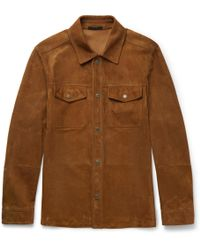 Tom Ford - Slim-fit Suede Shirt - Lyst