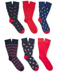 Corgi - Six-pack Cotton-blend Socks - Lyst