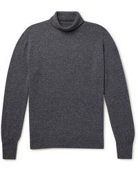 William Lockie Oxton Cashmere Rollneck Sweater - Blue