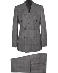 Kingsman Gray Double-Breasted Glen Check Suit