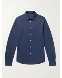 Loro Piana Cotton-piqué Shirt - Blue