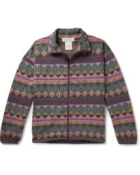 Remi Relief Printed Woven Track Jacket - Purple