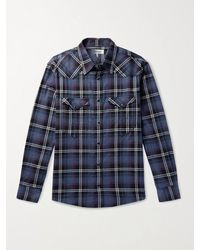 Isabel Marant Pitt Checked Cotton-flannel Shirt - Blue