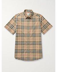 Burberry Vintage Check Woven Shirt - Brown