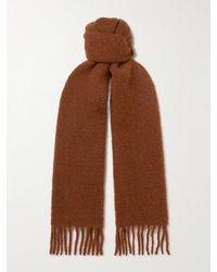 Séfr Fringed Wool-blend Scarf - Brown