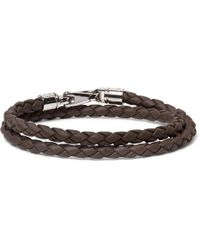 Tod's | - Woven Leather Wrap Bracelet - Brown | Lyst
