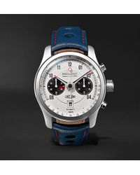 Bremont - Mkii Jaguar 43mm Stainless Steel And Leather Watch - Lyst