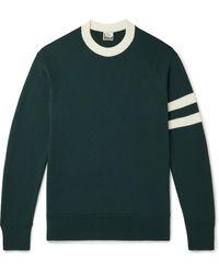 Sunspel Paul Weller Striped Merino Wool Sweater - Green