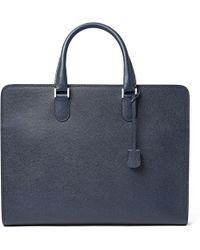 Valextra - Pebble-grain Leather Briefcase - Lyst