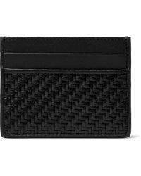 Ermenegildo Zegna Pelle Tessuta Leather Cardholder - Black