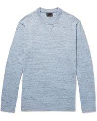Club Monaco - Slub Mélange Cotton-blend Sweater - Lyst