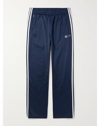adidas Originals Human Made Firebird Logo-embroidered Striped Tech-jersey Track Trousers - Blue