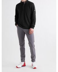 Nike Dry Victory Logo-print Dri-fit Half-zip Golf Top - Black
