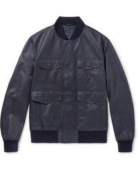 a9596a7c12b9 Lyst - Men s Bottega Veneta Leather jackets Online Sale