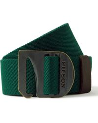 Filson Tan Togiak 4cm Leather-trimmed Webbing Belt - Green