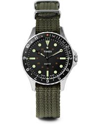 Timex - Navi Harbor Stainless Steel And Webbing Watch Gift Set - Lyst