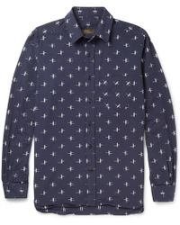 Freemans Sporting Club - Patterned Cotton Shirt - Lyst