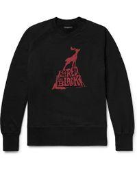 Engineered Garments - Printed Loopback Cotton-jersey Sweatshirt - Lyst