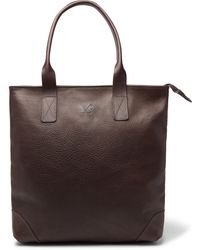 Bennett Winch Full-grain Leather Tote Bag - Brown