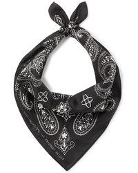 Moncler Genius 7 Moncler Fragment Printed Silk-twill Bandana - Black