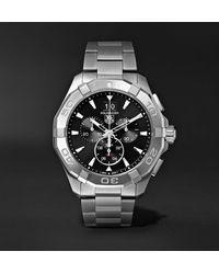 Tag Heuer Aquaracer Chronograph Quartz 43mm Steel Watch, Ref. No. Cay1110.ba0927 - Black