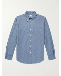 Orslow Button-down Collar Chambray Shirt - Blue