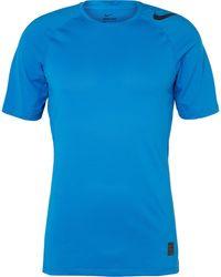 Nike - Pro Hypercool Mesh-panelled Stretch-jersey T-shirt - Lyst