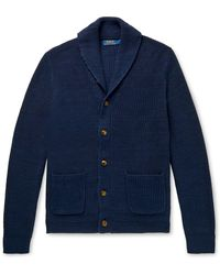 Polo Ralph Lauren Shawl-collar Cotton Cardigan - Blue