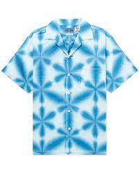 Blue Blue Japan - Camp-collar Tie-dyed Cotton-canvas Shirt - Lyst