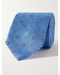 Turnbull & Asser 8cm Silk-jacquard Tie - Blue