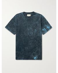 Nicholas Daley Garment-dyed Cotton-jersey T-shirt - Blue