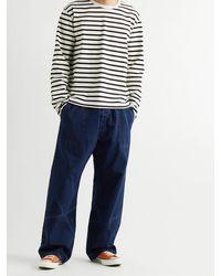 Chimala Cotton Drawstring Trousers - Blue