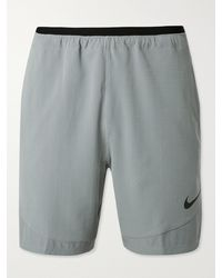 Nike Pro Rep Mesh-panelled Dri-fit Ripstop Shorts - Grey