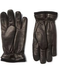 Hestra John Touchscreen Primaloft Leather Gloves - Black