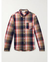 Alex Mill Mill Button-down Collar Checked Cotton-flannel Shirt - Red