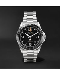 Bell & Ross Br V2-93 Gmt Automatic 41mm Stainless Steel Watch - Black