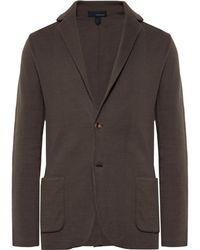 Lardini - Brown Slim-fit Unstructured Cotton Blazer - Lyst