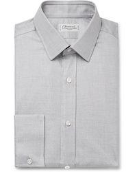 Charvet Grey Puppytooth Cotton Shirt