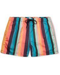 Paul Smith Striped Swim Shorts - Blue