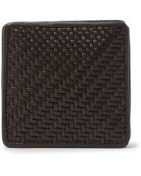 Ermenegildo Zegna - Pelle Tessuta Leather Coin Wallet - Lyst