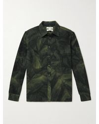 A Kind Of Guise Dullu Tie-dyed Virgin Wool-flannel Overshirt - Green