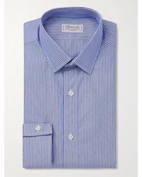 Charvet Striped Cotton-poplin Shirt - Blue