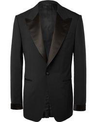 Tom Ford - Black Shelton Slim-fit Satin-trimmed Wool Tuxedo Jacket - Lyst